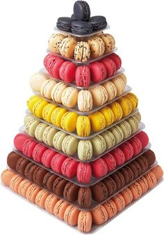 Clear Square Macaron Stand
