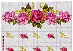 This Pin was discovered by Nat Cute Cross Stitch, Cross Stitch Rose, Cross Stitch Borders, Cross Stitch Flowers, Cross Stitch Kits, Cross Stitch Charts, Cross Stitch Designs, Cross Stitching, Cross Stitch Patterns
