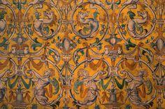 Azulejos rinascimentali - Palazzo Gotico - Real Alcázar de Sevilla   Renaissance Azulejos - Gothic Palace - Real Alcázar de Sevilla