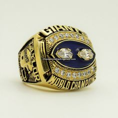1990 New York Giants Super Bowl XXV Championship Ring. Best gift from www.championshipringclub.com for Giants fans. Custom your own personalized championship ring now!