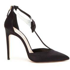 OLGANA PARIS 'La Garconne'  Pumps (717 AUD) ❤ liked on Polyvore featuring shoes, pumps, patterned pumps, satin pumps, satin shoes, print shoes and patterned shoes