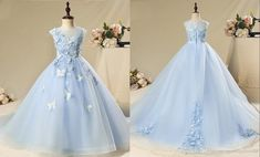 Modest 3D Floral Butterfly Flower Girls Dresses For Wedding 2020 Light Sky Blue Hollow Back Applique Organza Cheap First Communion Dress 2020 Vintage Luxury Princess Girl Dress Girls Pageant Dresses Toddler Infant Girls Kids Formal Prom Evening Dresses Online with $98.21/Piece on Stunningdress88's Store | DHgate.com Formal Prom, Formal Dresses, Wedding Dresses, Flower Girls, Flower Girl Dresses, Evening Dresses Online, Girls Pageant Dresses, Princess Girl, Infant Girls