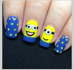 Despicable me nails (: