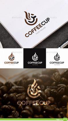 Coffee Cup Logo template  #logo #logo design #logo template #menu #restaurant #$29