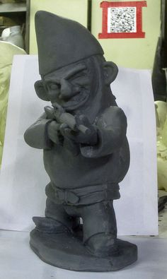 UNPAINTED Combat Garden Gnome in standing position by thorssoli, $49.00