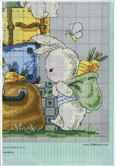 Cute Cross Stitch, Cross Stitch Animals, Cross Stitch Patterns, Stitch Doll, I Am Awesome, Dolls, Comics, Kids, Rabbits