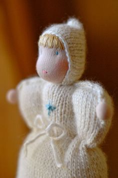 knitted doll :: snow by waldorf mama, via Flickr
