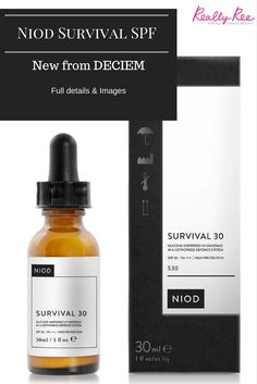 NIOD  by DECIEM | Are launching an SPF and it is called Survival | #beauty #skincare #makeup | #socialmedia | www.notjustpowder.com