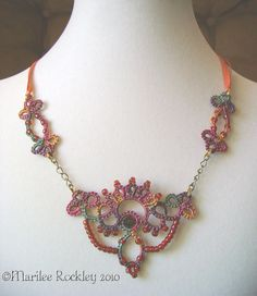 Yarnplayer's Tatting Blog: Tatted necklaces, upcoming shows