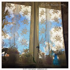 Happy and blue💙 #Blue, #Budapest, #Clouds, #Curtain, #Happy, #Home, #House, #Nature, #Reflection, #Sky, #Window - https://goo.gl/NN3vsw