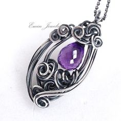 Emin Jewelry - Handmade Wearable Art: Something new with my oldest wire wrapping~