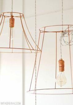Wire Pendant Light Tutorial   Upcycle That