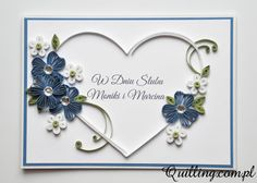 Kolejna serduszkowa kartka ślubna. Tym razem dla Moniki i Marcina – oby ich miłość przetrwała wszystkie życiowe trudności i z każdym rokiem stawała się coraz głębsza. Kwiatki wykonane techniką huskingu nadają całej pracy lekkości. Myślę, że kartka spodoba się państwu M&M. Małżeństwo jest sakramentem tylko dla tych, którzy się kochają. …