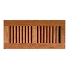 allen   roth 4-in x 14-in Oak Floor Register