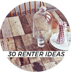 Great ideas for doing up a rented home that wont touch the fabric of the building