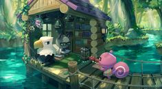 Animal Crossing Fan Art, Animal Crossing Pocket Camp, All About Animals, Creepy Art, Cool Backgrounds, Beautiful Artwork, Character Concept, Twitter, Pixel Art