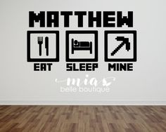 Personalized Name Minecraft Wall Art  by MiaBelleBoutique on Etsy
