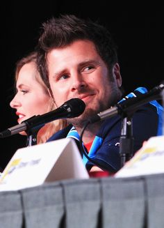 Celebs at Comic-Con Maggie Lawson and James Roday Smallwood McCutchen Northrop USA Shawn And Juliet, Shawn And Gus, Shawn Spencer, Psych Cast, Maggie Lawson, Real Detective, James Roday, I Know You Know, Usa Network