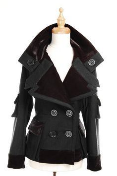 Moschino peacoat going in at the waist.