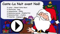 Un conte de Noël à écouter , à regarder French Teacher, Teaching French, Education And Literacy, Core French, French Christmas, French Classroom, French Resources, Theme Noel, French Lessons