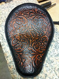 Beautiful tooled leather seat