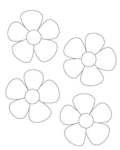 Image result for printable flower template cut out