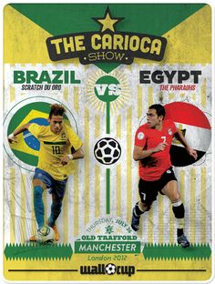 #CariocaShow #London2012 #Olympics #Brasil #Egypt #WallCup #Football #Soccer
