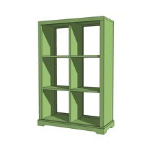 Ana White   Build a 6 Cubby Bookshelf   Free and Easy DIY Project and Furniture Plans