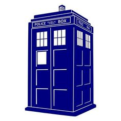 TARDIS outline - Cut out the white - I used Microsoft home publishing to print it out in poster size so it would be big enough. The white square is what determined that I cut it out backwards, but I had saved the square and was able to replace it and cut out another :) Lesson learned ;)