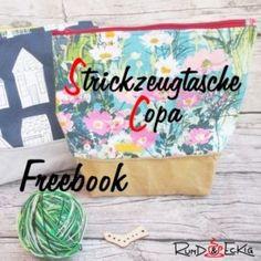 Freebook: Strickzeugtasche Copa Fat Quarters, Etsy, Breakfast Nook, Small Bags, Sewing Patterns, Tutorials, Breien