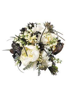 Monochrome Bridal Bouquet (BridesMagazine.co.uk) (BridesMagazine.co.uk)