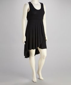 Take a look at this Black Plus-Size Hi-Low Dress by Life and Style Fashions on #zulily today!