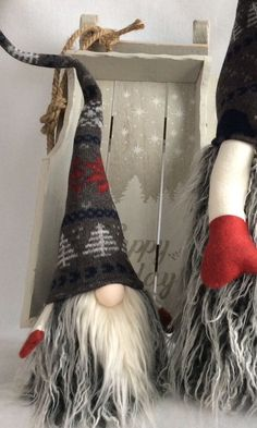 Scandinavian Tomte Nordic Nisse Swedish Santa Gnome Elf Handmade decoration