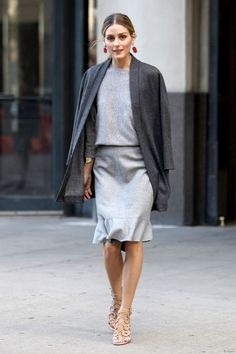 Olivia Palermo a New York durante la Fashion Week, settembre 2014.