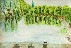Irina  Afonskaya - Lake in park, painting