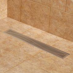 Rowland Linear Shower Drain - Shower Drains - Drains and Water Supplies - Bathroom