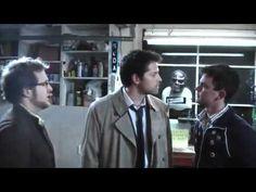 Supernatural - The Ghostfacers meet Castiel. ,