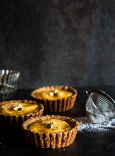 Mango Lassi Tarts with an Almond Crust {Thyme to Eat}