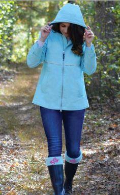 Monogrammed Fleece Rain Boot Socks All Colors
