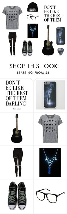 """""""Untitled #103"""" by darksoul7 on Polyvore featuring Sundry, Topshop, Converse and H&M"""