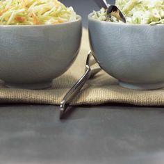 Salade de chou crémeuse | Ricardo Ricardo Recipe, Creamy Coleslaw, Menu Planning, Copycat Recipes, Food For Thought, Entrees, Healthy Life, Salads, Appetizers