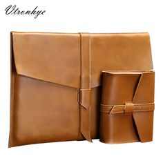"""Universe of goods - Buy """"Mimiatrend High Quality Vintage Genuine Leather Bag for 2016 Apple Macbook Air Pro 11 13 15 Inch laptop Sleeve Pouch Gift"""" for only USD. Macbook 13, Macbook Sleeve, Macbook Air Pro, Laptop Pouch, Laptop Briefcase, Laptop Screen Repair, Sea Wallpaper, Laptop Storage, Laptops For Sale"""