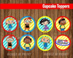 OFF SALE Little Einsteins Cupcakes Toppers instant by youparty Crazy Straw Valentine, Happy Valentines Day Card, Little Einsteins Birthday, Bear Party, Toy Story Party, Custom Cookies, Party Printables, Cupcakes, Cupcake Toppers