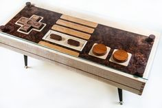 Nintendo Controller Coffee Table... and it's functional!!!!