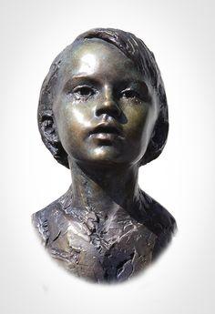 'Odette'  Life-size bronze.  By Mark Richards FRBS