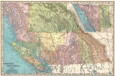 1902 Antique BRITISH COLUMBIA Map Vintage Map of British Columbia CANADA Gallery Wall Art Map Collector Gift For Traveler 7276 by plaindealing on Etsy