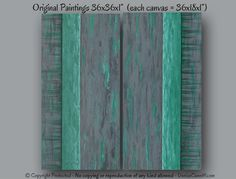 Teal green and gray original abstract paintings by Denise Cunniff. Designed to enhance your bedroom, living room, dining room or office decor. The
