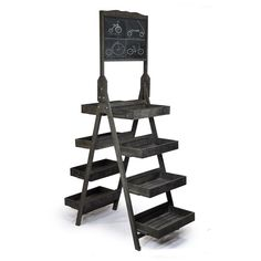 Display Tower with Chalkboard - Double Sided $100 ...or DIY with an old ladder…