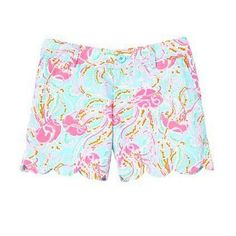 Lilly Pulitzer Buttercup Scallop Hem Short in Jellies Be Jammin