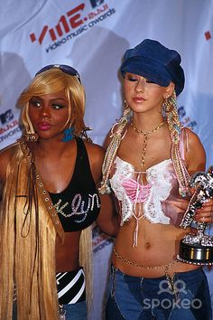 Lil Kim and Christina Aguilera